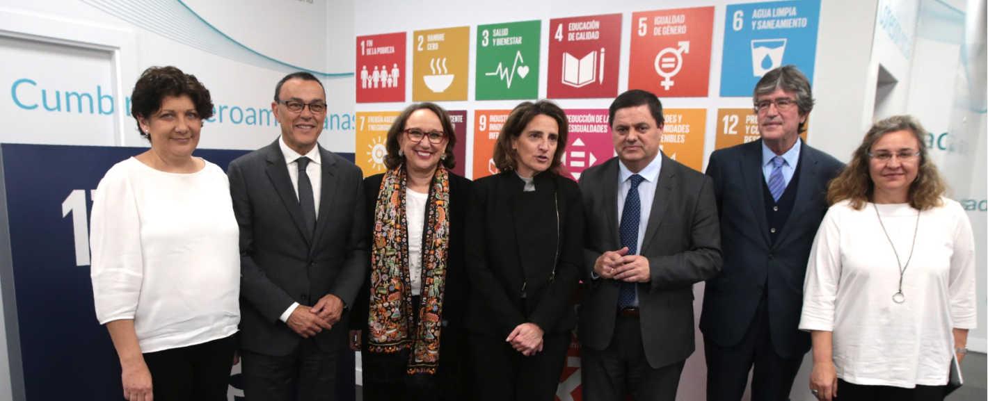 Foto de familia SEGIB Cambio climático informe iberoamérica