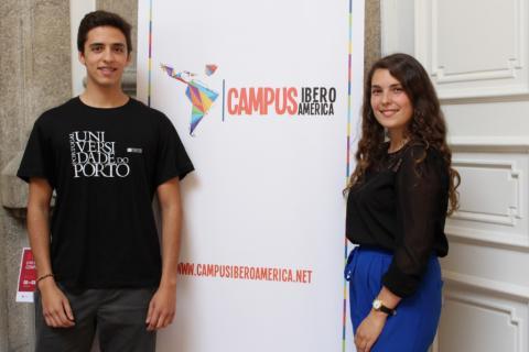 Estudiantes en la presentación de Campus Iberoamérica en Oporto